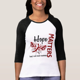 Hope Matters Butterfly Head And Neck Cancer T-Shirt