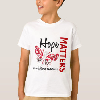 Hope Matters Butterfly Mesothelioma T-Shirt