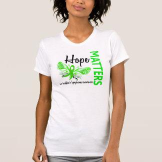 Hope Matters Butterfly Non-Hodgkin's Lymphoma Tee Shirt