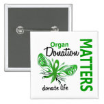 Hope Matters Butterfly Organ Donation 15 Cm Square Badge
