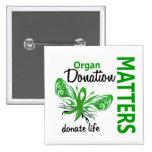 Hope Matters Butterfly Organ Donation Button