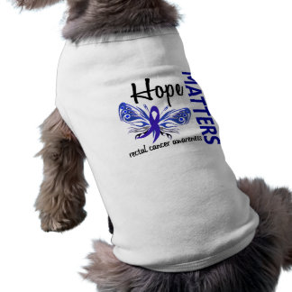 Hope Matters Butterfly Rectal Cancer Dog T Shirt