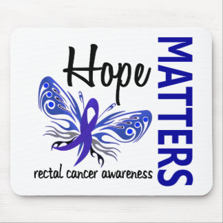 Hope Matters Butterfly Rectal Cancer Mousepads