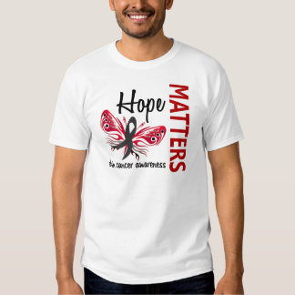 Hope Matters Butterfly Skin Cancer T Shirt