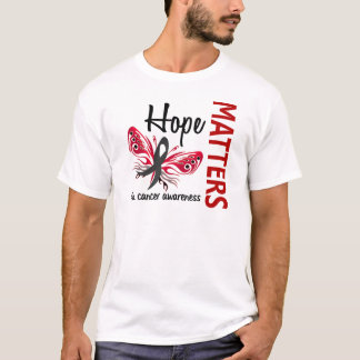 Hope Matters Butterfly Skin Cancer T-Shirt