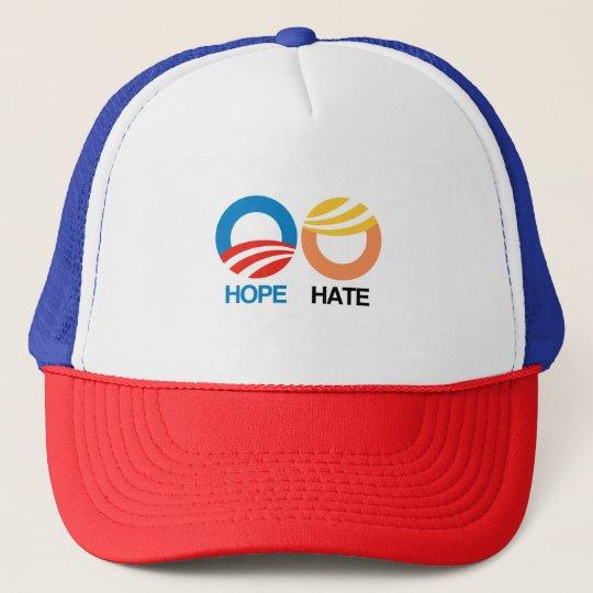 HOPE (Obama) vs. HATE (Trump) Trucker Hat