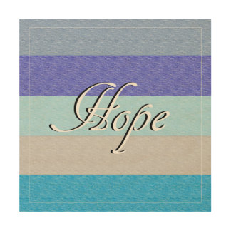 HOPE on Blue Wood Wall Art