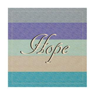 HOPE on Blue Wood Wall Art