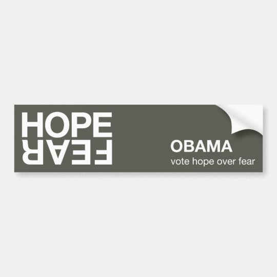 Hope Over Fear bumper sticker