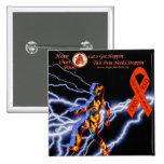 Hope Over Pain Logo Black Lightning CRPS/RSD Myste 15 Cm Square Badge