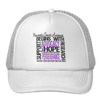 Hope - Pancreatic Cancer Awareness Month Mesh Hats