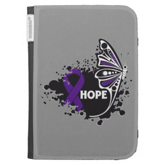 Hope Pancreatic Cancer Butterfly Kindle Folio Case