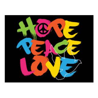 Hope Peace Love Postcard