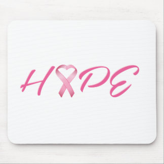 Hope Pink Cancer Ribbon 2 Mouse Pad