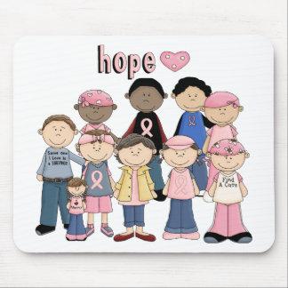 Hope Pink Ribbon Mouse Mat