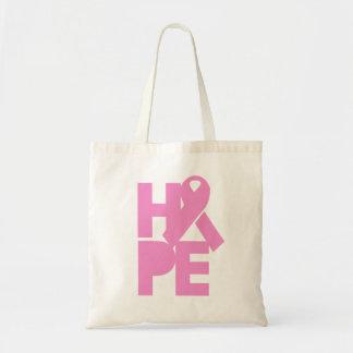 Hope Pink Ribbon Tote Bag