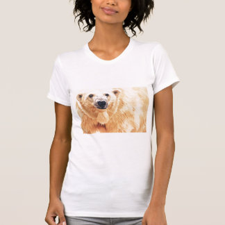 """Hope"" Polar Bear Wildlife Watercolor Art Tshirts"