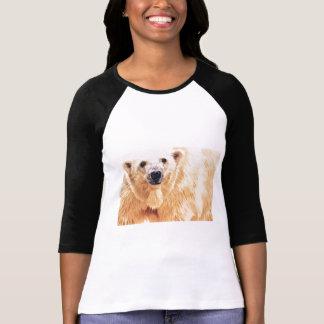 """Hope"" Polar Bear Wildlife Watercolor Art T-shirts"