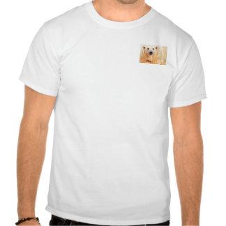 """""""Hope"""" Polar Bear Wildlife Watercolor Art Shirt"""