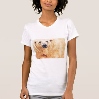 """Hope"" Polar Bear Wildlife Watercolor Art T Shirts"