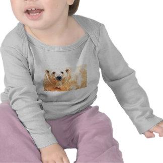 """""""Hope"""" Polar Bear Wildlife Watercolor Art Tee Shirt"""
