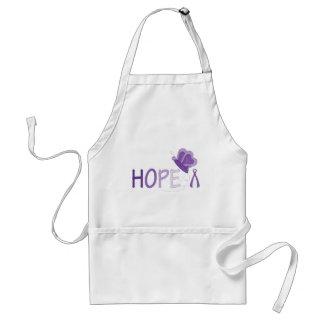 Hope Purple Ribbon Awareness Adult Apron