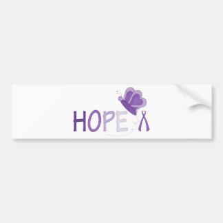 Hope Purple Ribbon Awareness Car Bumper Sticker