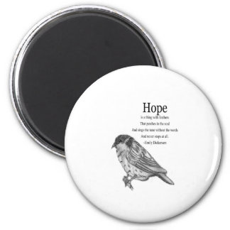 Hope Quote 6 Cm Round Magnet