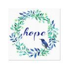 Hope Quote Zen Style Canvas Print
