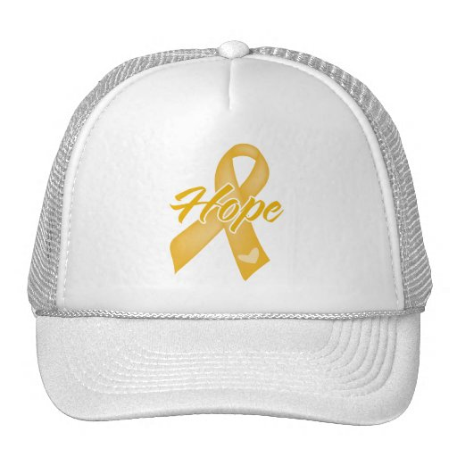 Hope Ribbon - Appendix Cancer Mesh Hats