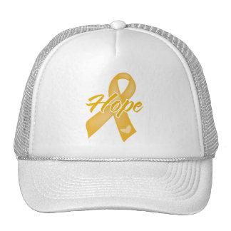 Hope Ribbon - Appendix Cancer Mesh Hats