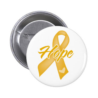 Hope Ribbon - Childhood Cancer 6 Cm Round Badge