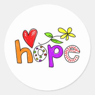 Hope Round Sticker