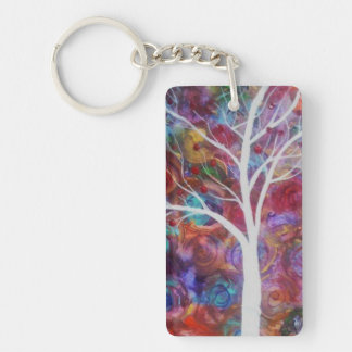 HOPE Single-Sided RECTANGULAR ACRYLIC KEY RING