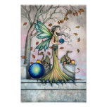 Hope Stones Fairy Dragon Fantasy Art Poster Print