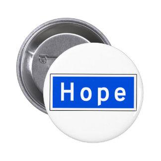 Hope Street, Los Angeles, CA Street Sign 6 Cm Round Badge