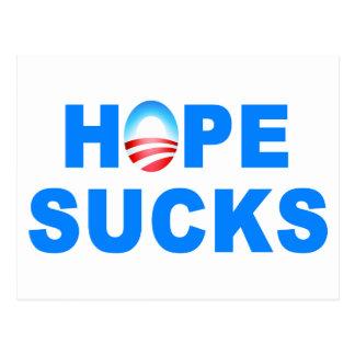 Hope Sucks Obama Postcards