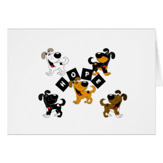 Hope (Surrounded by Pups) Greeting Card