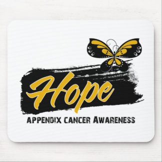 Hope Tattoo Butterfly Appendix Cancer Mouse Pad