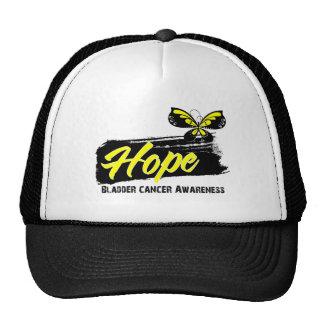 Hope Tattoo Butterfly Bladder Cancer Trucker Hats