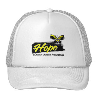 Hope Tattoo Butterfly Bladder Cancer Hats