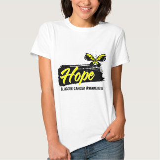 Hope Tattoo Butterfly Bladder Cancer Tshirt