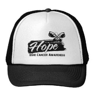 Hope Tattoo Butterfly Bone Cancer Trucker Hats