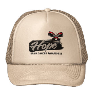 Hope Tattoo Butterfly Brain Cancer Mesh Hats