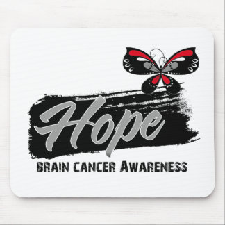 Hope Tattoo Butterfly Brain Cancer Mouse Pads