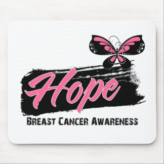 Hope Tattoo Butterfly Breast Cancer Mouse Pads