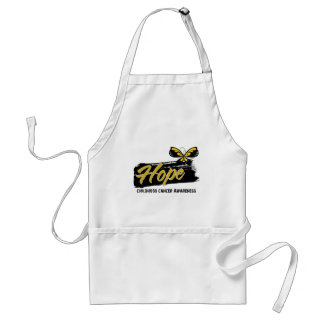 Hope Tattoo Butterfly Childhood Cancer Adult Apron