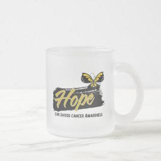 Hope Tattoo Butterfly Childhood Cancer Mugs