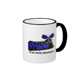 Hope Tattoo Butterfly Colon Cancer Coffee Mugs
