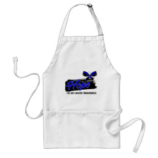 Hope Tattoo Butterfly Colon Cancer Standard Apron